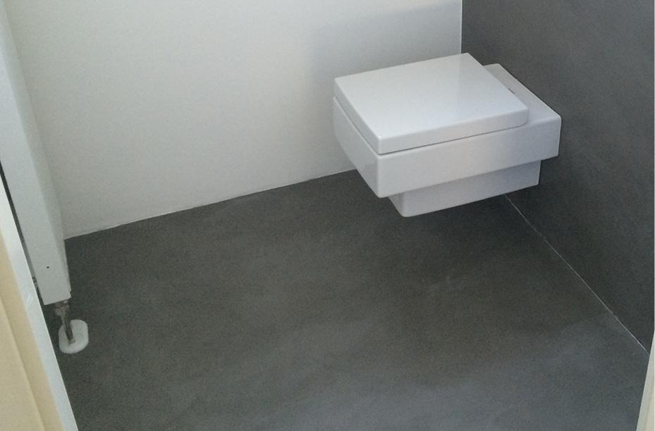 Fugenloser spachtelboden mit beton ciré einwandfrei