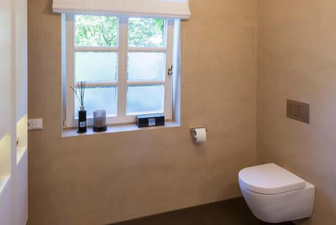 Fugenlose badgestaltung mit beton cirè einwandfrei
