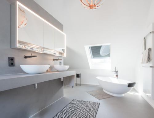 Sanierung – Bad im fugenlosen Spachteldesign